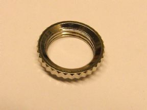 Deep Thread Round Nut for Metric Toggle Switches Nickel EP-0921-001